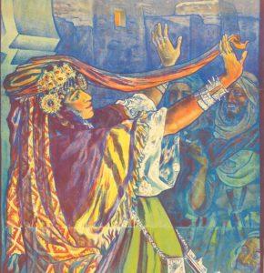 Gemälde von Dinet - Harem